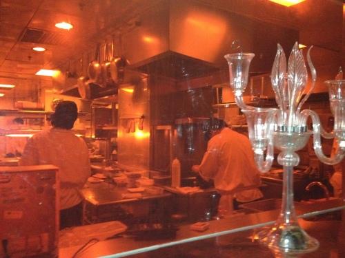 Mr & Mrs Bund's open kitchen and very busy.....