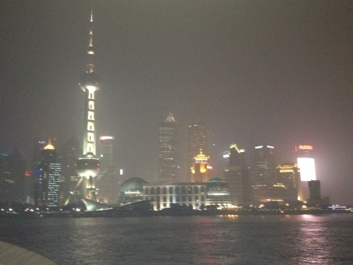 A smog covered skyline.