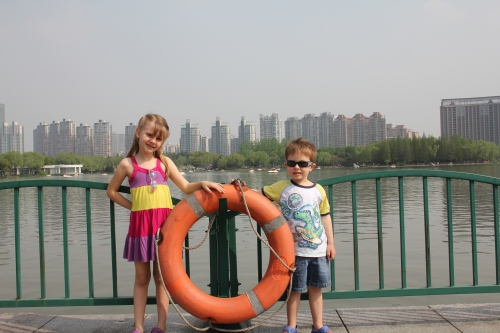 By the Big Lake in Century Park