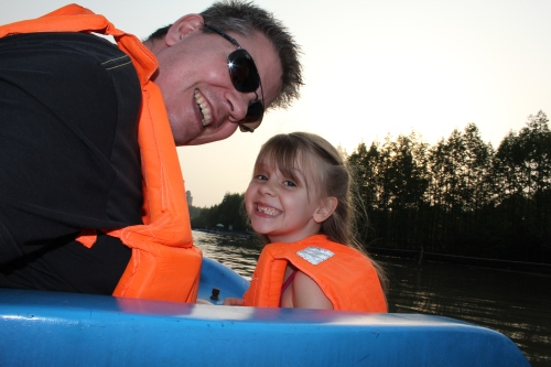 A boat ride.  (Oliver took this picture!)