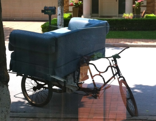 Sofa - on a bicycle!