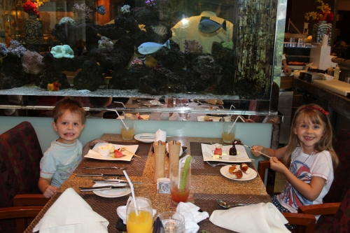Fab table by the Fish Tank!