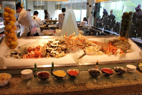 One side of the the Seafood Station