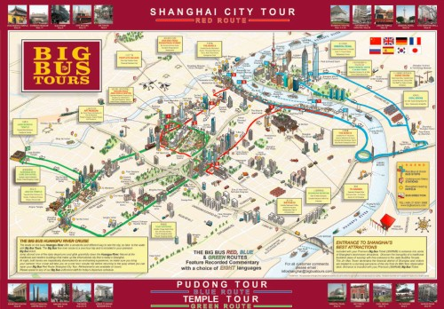 Big Red Bus Tour Map