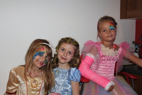 Isabelle in Princess heaven with Rebecca and Aimee