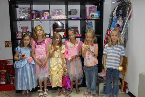 Princesses at the Party - Rebecca, Georgina, Isabelle, Aimee, Hattie & Maddie