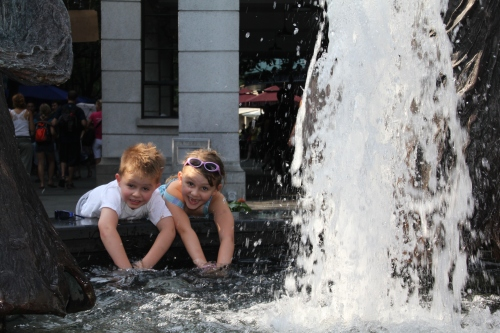 Cooling off in the Fountain!