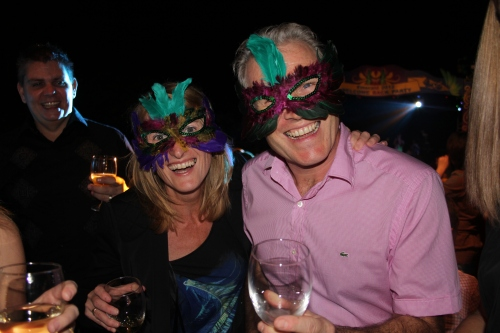Jenny and John with their Masks at the Masquerade Ball!