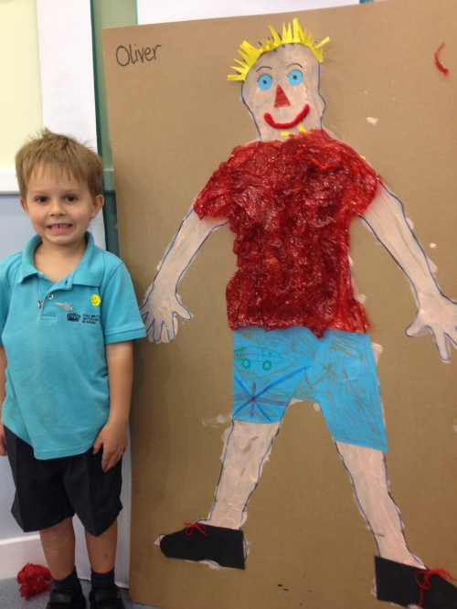 "Oliver with his finished ""me"""