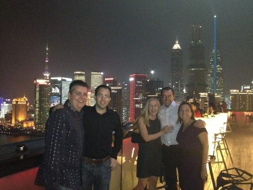Owen, Matt, Emma, Nick and Lin at Char Bar, Hotel Indigo