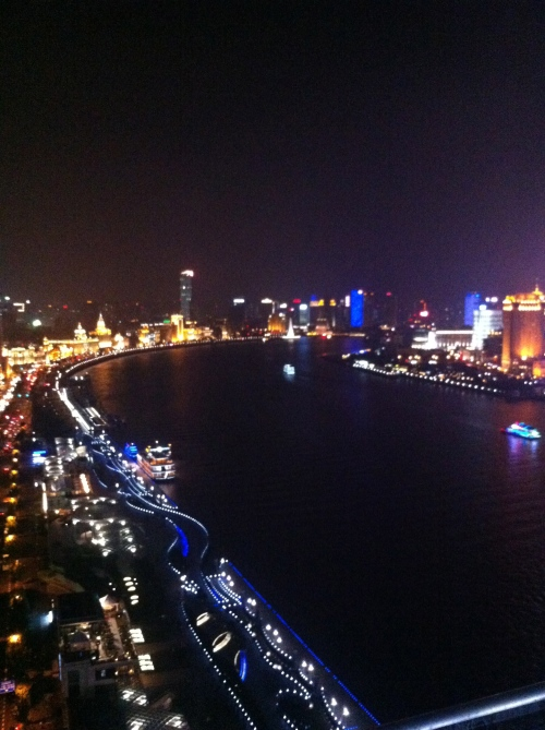 The Huangpu River at night.