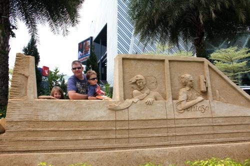 The sand sculptures at Beach Station were wonderful