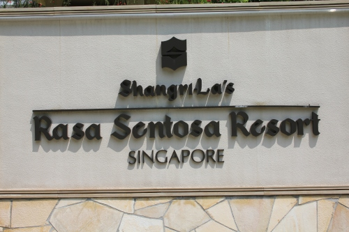 The lovely Shangri-La Resort at Sentosa, Singapore