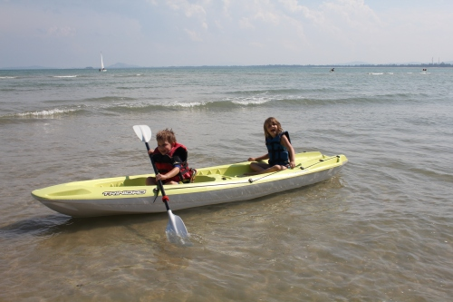 We had so much fun with the kayaks
