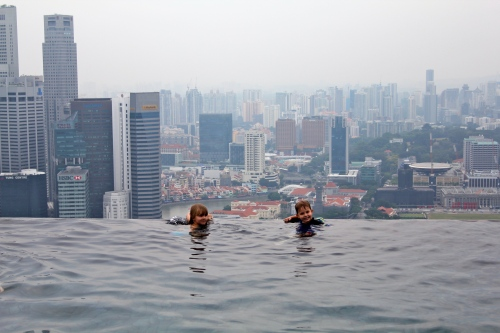 The infinity pool at the top is very cool.