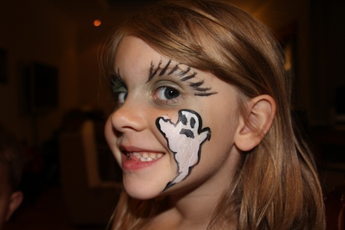 I did her eyes and the ghost was done at the party!