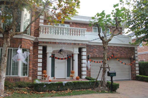 Our Halloween decorated house