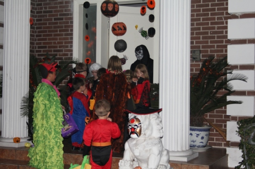 Trick or Treating at a neighbors!