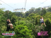 On our way down the Mega Zip line
