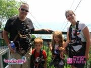 Waiting to do the Mega Zip line ride