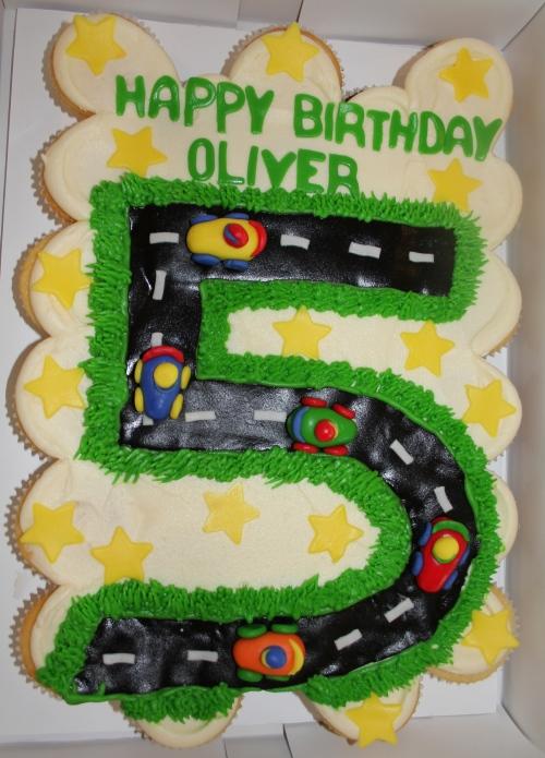 Oliver's Cupcake Birthday Cake