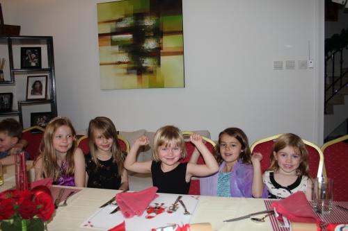 Lia, Isabelle, Amelie, Maddie and Seren