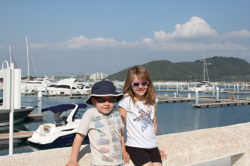 Kids by the Marina