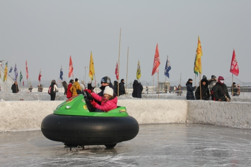 Bumper cars on ice!