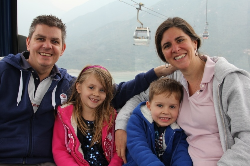 Family Jones on the Cable Car