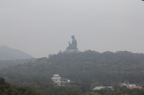The Big Buddha on the top of the mountain.
