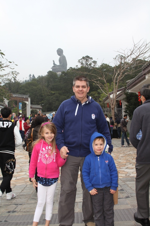 Big Buddha in the background!