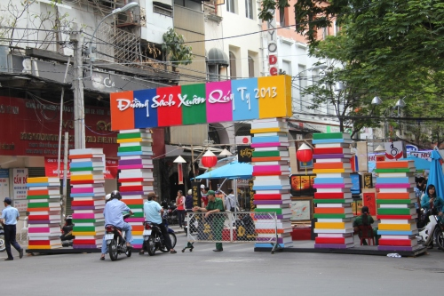 All of the streets had colourful entrances.