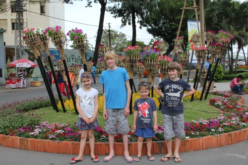 Isabelle, Dan, Oliver and Luke