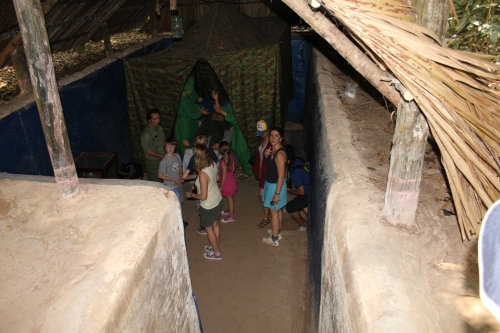 """Coming out from the """"banquet"""" tunnel.  We were so close to many bats - the kids thought that was really cool!"""