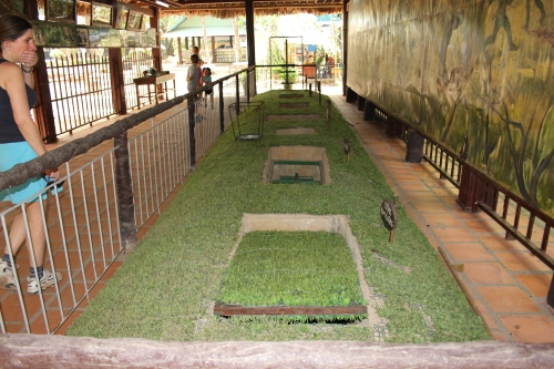 Examples of the many different types of traps that the Viet Cong used in the war.