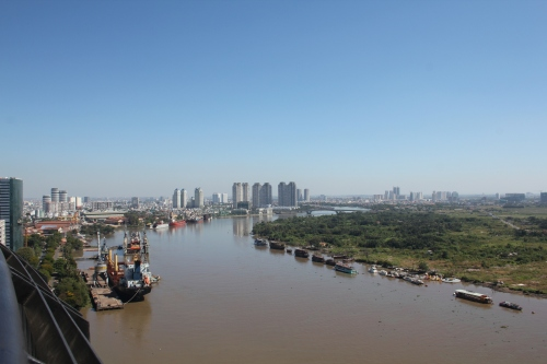 And looking the opposite way - down the Saigon River.