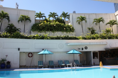 Fabulous rooftop pool at the Renaissance Riverside Hotel.