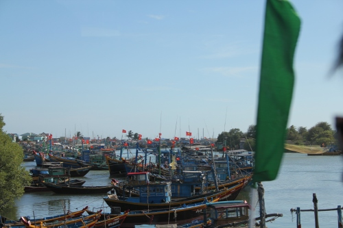 Beautiful Vietnamese boats on the River
