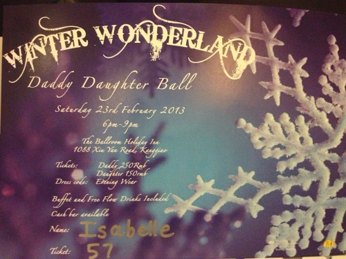 Winter Wonderland Ball invitation.