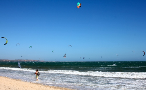 Kite surfers galore