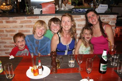 Oliver,  Dan, Luke, Jenny Isabelle and Sara.  Great Italian dinner in Mui Ne.