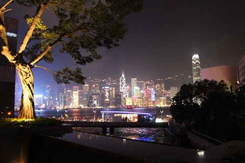 Beautiful Hong Kong skyline