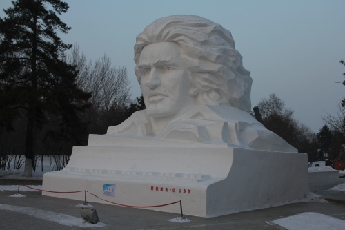Ludwig Beethoven in Snow!