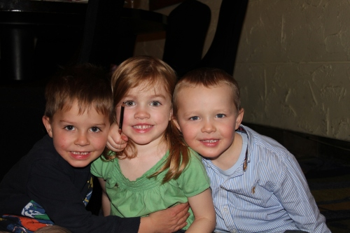 Oliver, Seren and Ethan