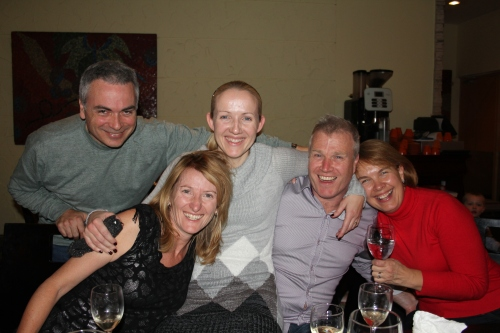 Obviously towards the end of the evening......Kevin, Jenny, Emma, John and Jane