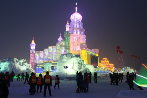 We took so many photos of the fantastic ice sculptures.  It is amazing what is built and how beautifully lit up they all are.  This was truly a fantastic experience.