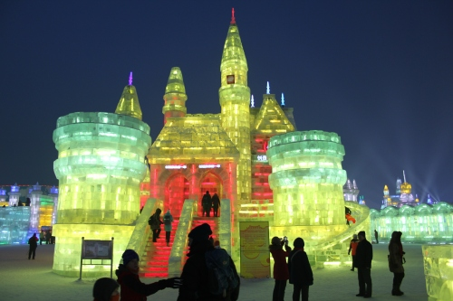 "A lot of the buildings had ice slides incorporated into them.  Everyone enjoyed these - ""big kids"" and little kids!"