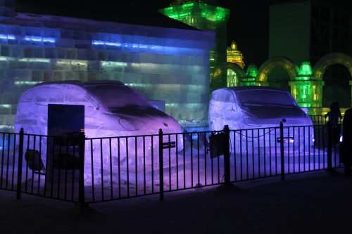 Not just ice sculptures, some snow ones too!