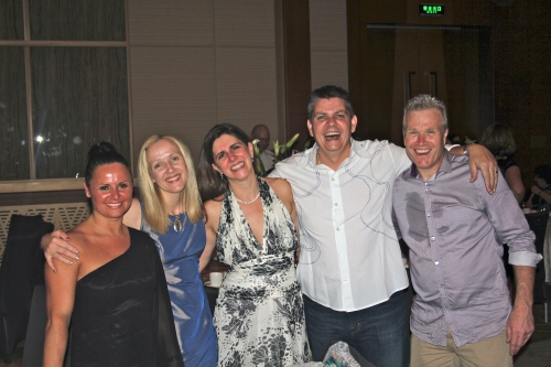 Suzanne, Emma, Sara, Owen and John.  Towards the end of the evening!!