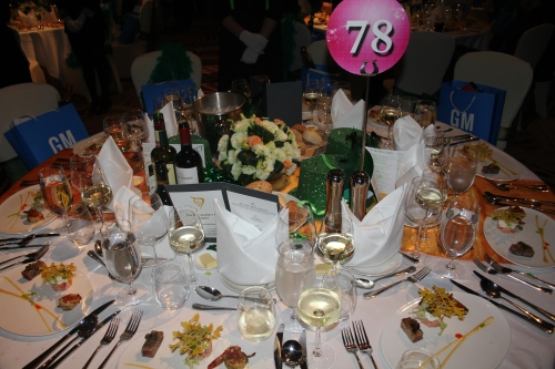 The decorated table